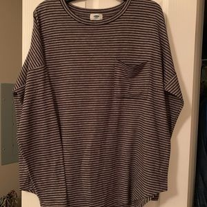 Old Navy knit LS striped shirt